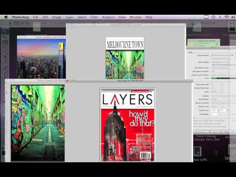 Collaging Images and Layers for a Magazine Cover   Photoshop