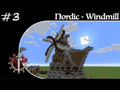 Minecraft Nordic Builds - Part 3 - Windmill - How to Build a Nordic Windmill