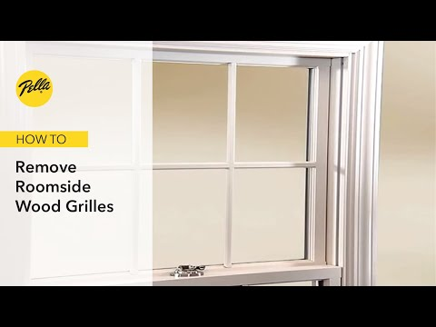 Removing Roomside Wood Grilles For Window Cleaning
