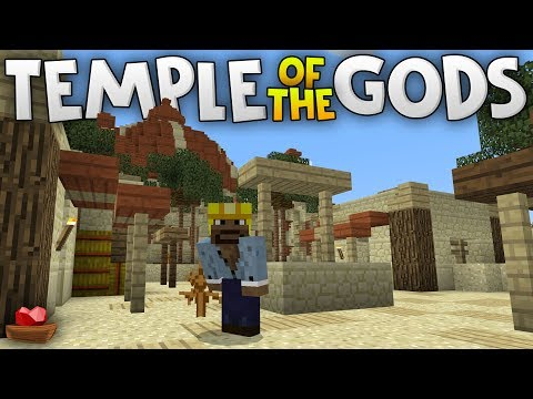 I CHALLENGE YOU!!! - Temple of the Gods LBSG Adventure Map - Minecraft PE (Pocket W10 Edition)