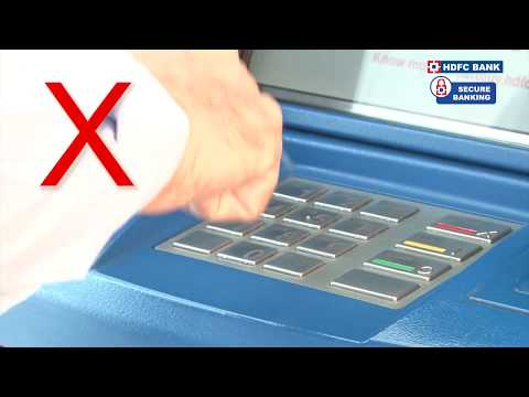 HDFC Bank - Dos and Don'ts in an ATM