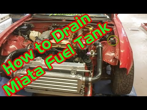 How to Drain Miata Fuel Tank (NA & NB)