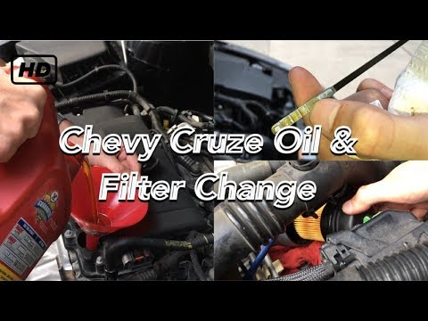 Chevy Cruze oil & filter change 2008-2016 1.4L Turbo
