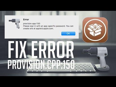 How to Fix Provision CPP 150 Error - Cydia Impactor Jailbreak 10.1, 10.1.1, 10.2