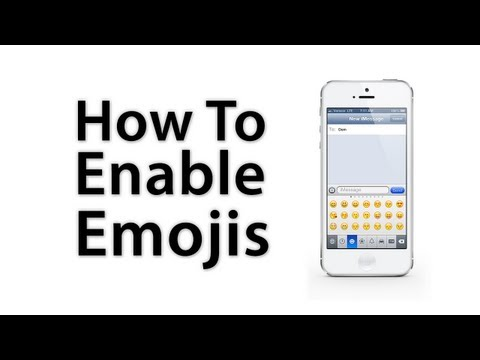 iOS 6 / iOS 5 - How To Enable Emoji Keyboard - iPhone 5 / iPhone 4S / 4 / 3GS