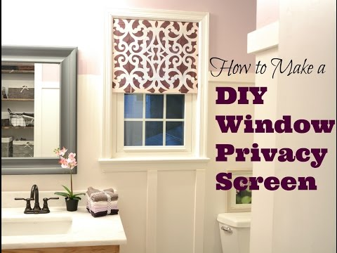 How to Make a Pretty DIY Window Privacy Screen - DIY Tutorial: Thrift Diving