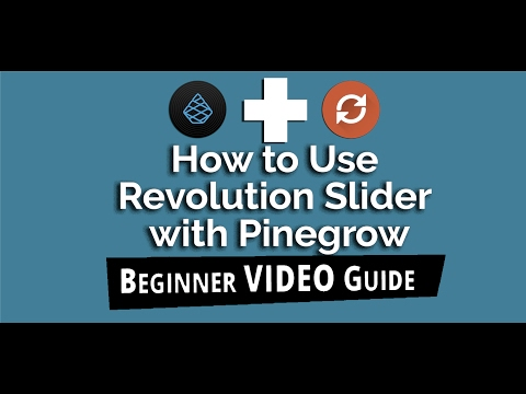 Learn How to create a Responsive Slider using Revolution Slider Plugin of Pinegrow.