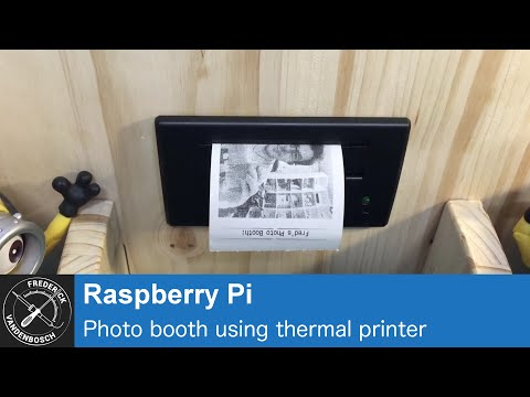 Demo: Raspberry Pi Photo Booth using touch screen, Pi camera and thermal printer