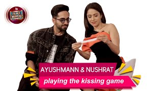 The kissing game with Ayushmann & Nushrat | Dreamgirl | Mirchi Rochie