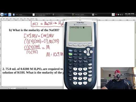 Calculate Molarity from Titration | Titration | Neutralization Reaction