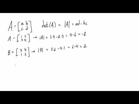 Find the determinant of a 2x2 matrix