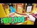 $100,000 Dollars in an ARCADE GAME? || Arcade WINS!