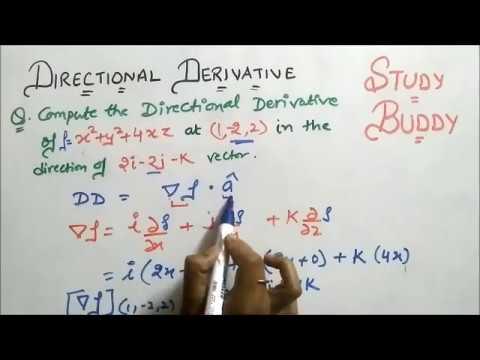 Directional Derivative - Vector Calculus