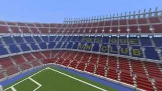 Minecraft stadium tutorial how to make standsstairs s minecraft megabuild camp nou fc b 5 years ago sciox Gallery