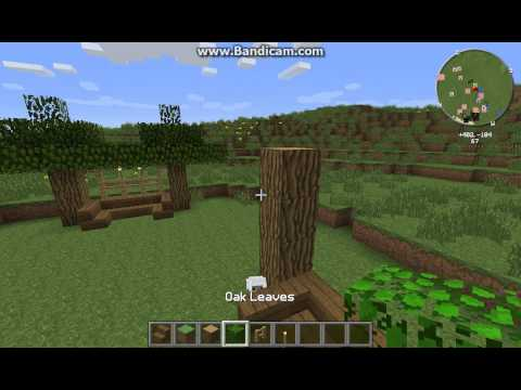 Minecraft How to make a bench