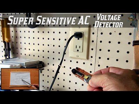 Super Sensitive AC Voltage Sensor Circuit