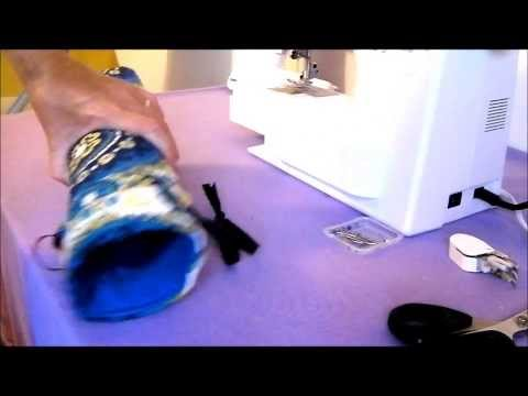 How to sew a padded wine bag