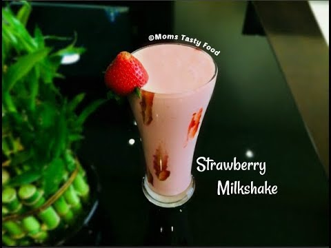 Fresh and Delicious Strawberry Milkshake-How to Make Homemade Strawberry Milkshake (Healthy & Easy)