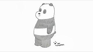 93+ Gambar Hewan Panda Untuk Mewarnai Gratis