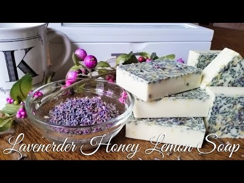 How to Make Lavender Honey Lemon Melt and Pour Soap