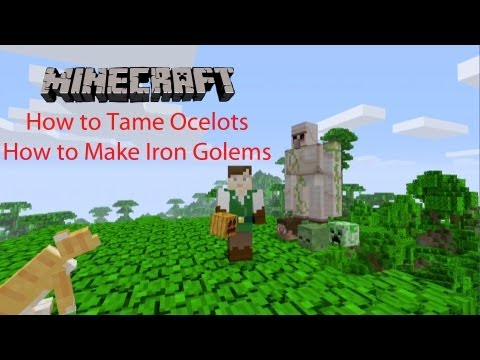 Minecraft Xbox 360 TU12: How to Tame Ocelots/Make Iron Golems