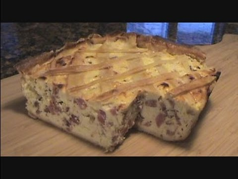 ITALIAN EASTER PIE - PIZZAGAINA - HOW TO MAKE RUSTIC MEAT AND CHEESE PIE