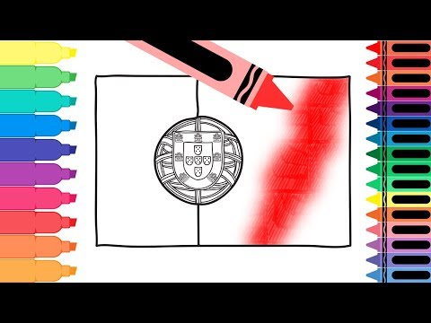 How to Draw Portugal Flag - Drawing the Portuguese Flag - Coloring Pages for Kids | Tanimated Toys