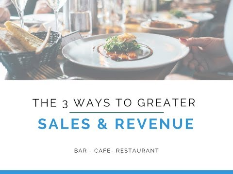 The 3 ways to generate sales and increase revenue