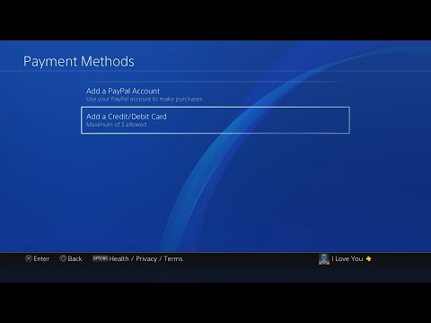 How to Add/Remove Credit Card/PayPal on PS4
