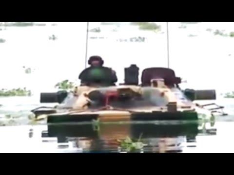 'Megh Prahar': Indian Army's Modern Hi-Tech Tanks T-90 Swim in River