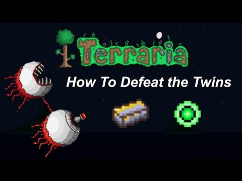 Terraria ios 1.2 | How to defeat The Twins (Very easy method)