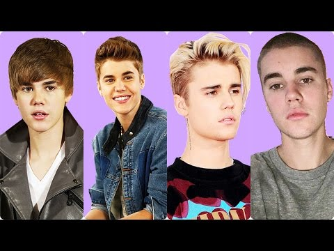 Justin Bieber Before and After Hairstyle (2009 - 2016)