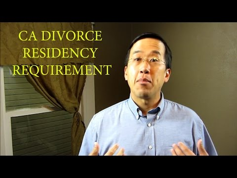 California Family Law - Divorce residency - The Law Offices of Andy I. Chen