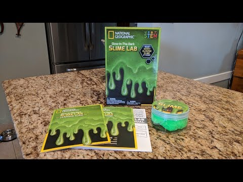National Geographic Glow-In-The-Dark Slime Lab Unboxing and Review