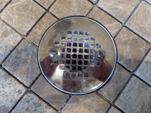 Part(1) How to measure, cut & install tile in circular shape around shower floor drain flange