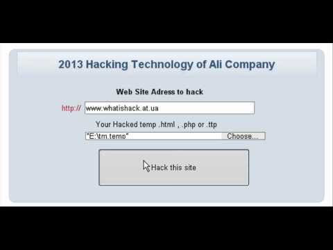 Web Site Hacking Software BY ( Ali Company )