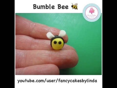 How to Make a Quick and Easy Fondant Bumble Bee | Ceri Badham | Fancy Cakes by Linda