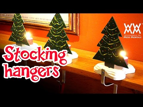 Make a Christmas stocking hanger & candle holder
