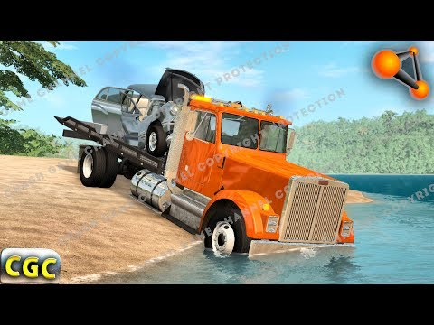 Tow Truck short story about cars evacuation BeamNG Drive