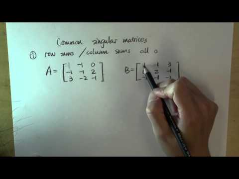Common singular matrices: part 1