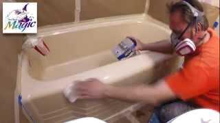 Painting a bathtub DIY results vs. professional reglazing