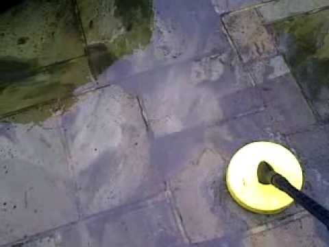 How to remove moss, algae or lichen off York stone paving
