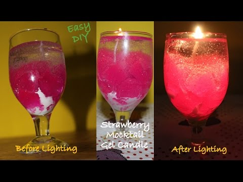 How to make a Gel Candle | DIY Party Mocktail/Cocktail Gel Candle | Stunning Gel Candle