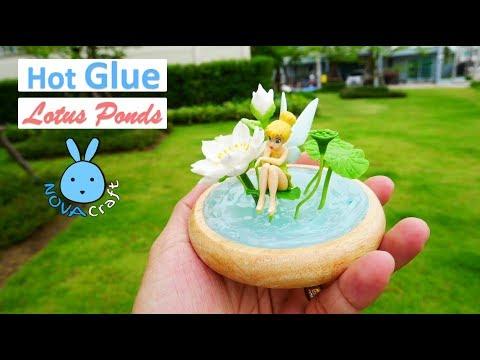 Hot Glue Lotus Ponds Tinkerbell Miniature | Hot Glue DIY Life Hacks for Crafting Art #023
