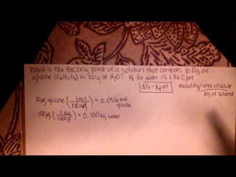 Calculating Freezing Point using Kf