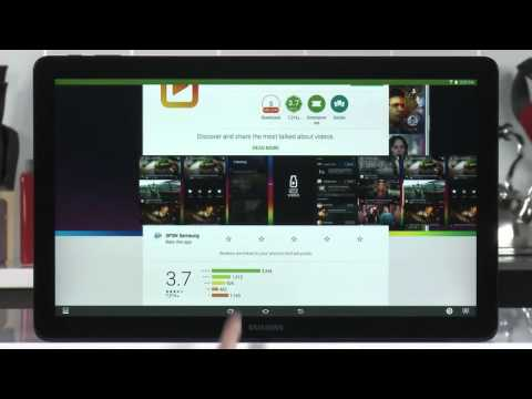 Samsung Galaxy View (SM-T677) - Google Play Downloading Apps