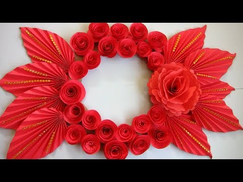 DIY. Simple Home Decor. Wall Decoration. Hanging Flower. Paper Craft Ideas #7