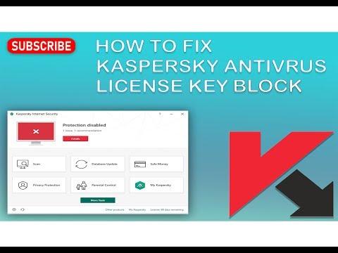 How to fix Kaspersky  Antivirus subscription  key   block problem
