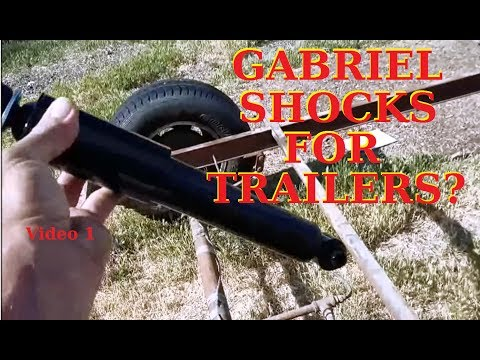 DIY Putting Shocks on ANY Trailer to save Tires vid 1 parts used below