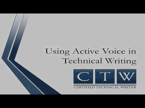 Certified Technical Writer - Active versus Passive Voice
